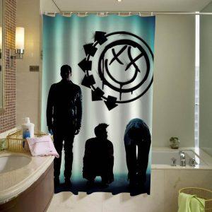 blink 182 logo silhouette shower curtain