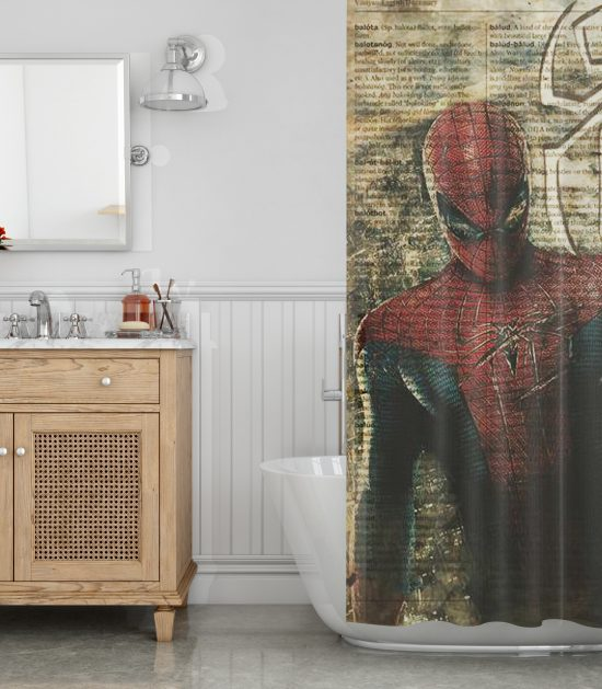 Another Spiderman Shower Curtain