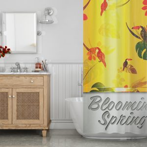 Blooming spring Shower Curtain