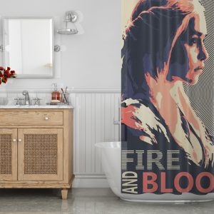 Fire and Blood Shower Curtain