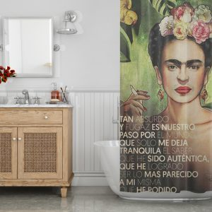 Quote print Frida Kahlo Shower Curtain