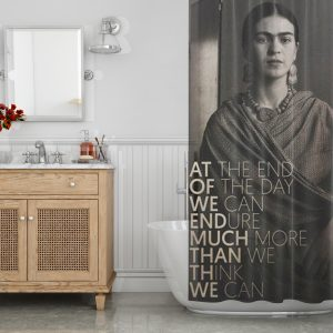 Quote print Frida Kahlo at the end Shower Curtain