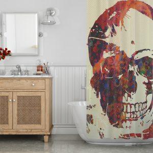 Skull decor Shower Curtain