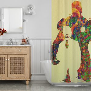 Tony Stark art Shower Curtain