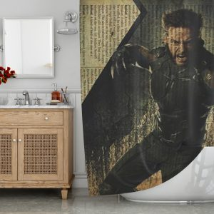 Wolverine X Men Shower Curtain