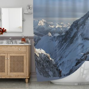 Art of the mountain shower curtain