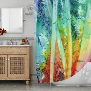 Bamboo Water Color Shower Curtain