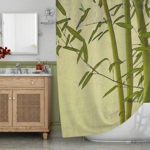 Bamboo art Shower Curtain