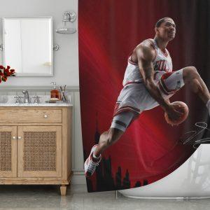 Derrick Rose Shower Curtain