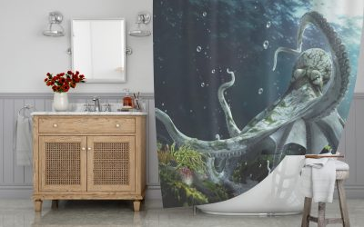 The Octopus Kingdom Shower Curtain
