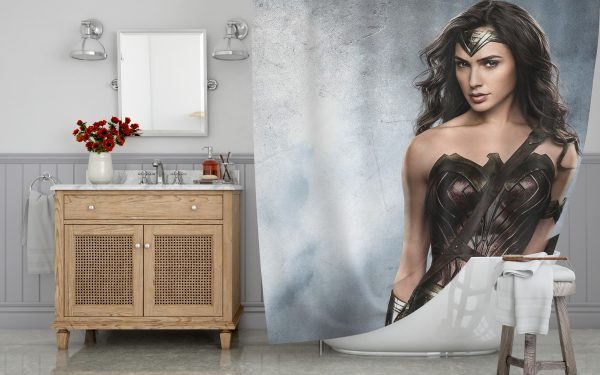 The Wonder Woman Shower Curtain