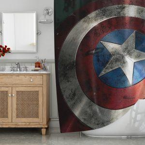 captain america shield Shower Curtains