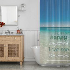 hay anywhere i can see ocean shower curtain