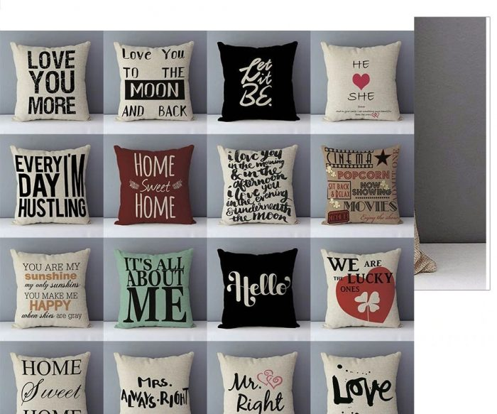 Home Decoration Letter Printed Pillow case