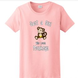 Just A Girl Who Love Monkeys SP Shirt