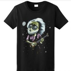 1995 Extra-Terrestrial Jerry Garcia Black SP T-Shirt