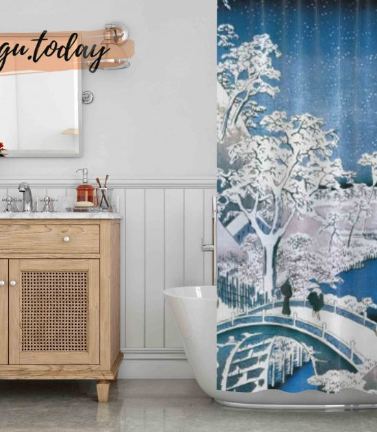 100 Views of Edo Shower Curtain