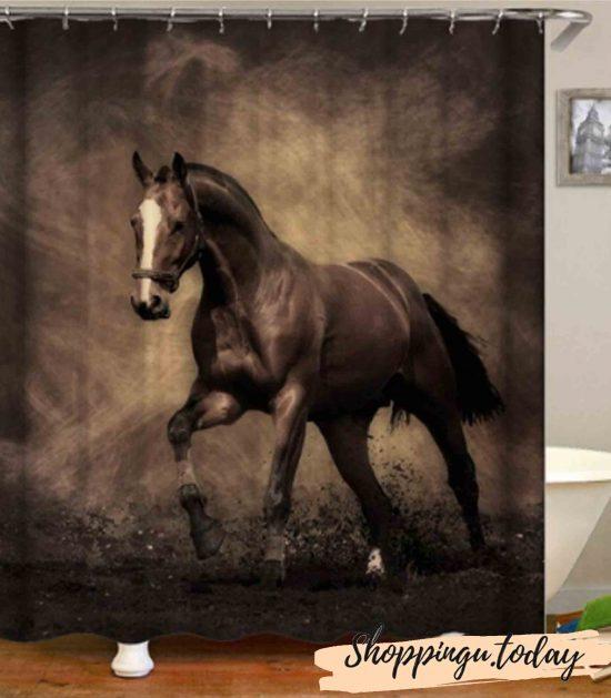 Horse on Bathroom Shower Curtain BS114