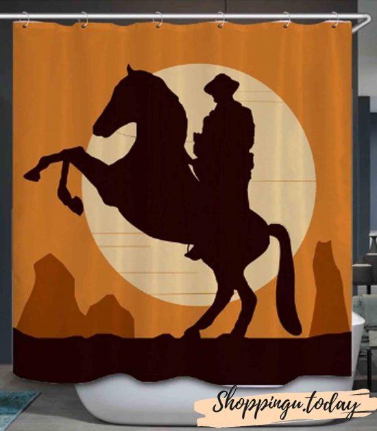 Horse on Bathroom Shower Curtain BS115