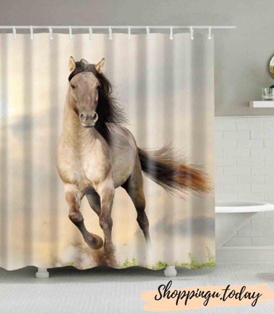 Horse on Bathroom Shower Curtain BS116