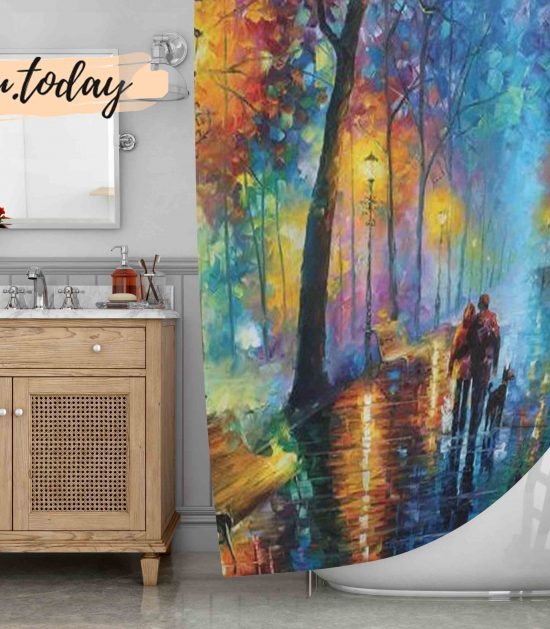 Melody Of The Night Art Shower Curtain