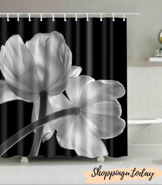 Rose On Bathroom Shower Curtain BS0124