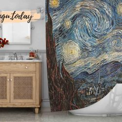 Starry Night Art Shower Curtain