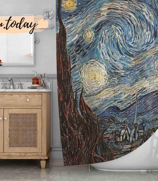 Starry Night Art Shower Curtain