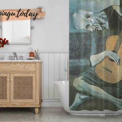 The Old Guitarist Shower Curtain