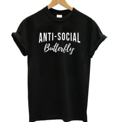Anti-Social Butterfly Black LT T Shirt
