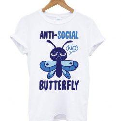 Anti-Social Butterfly Racerback LT T Shirt