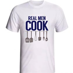 Apron dad or grandpa funny real men cook LT T Shirt