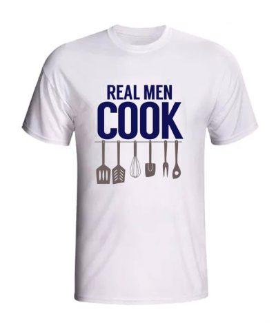 Apron dad or grandpa funny real men cook LT T Shirt