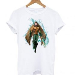 Aquaman – Prince Orin With Aquaman Logo LT T Shirt