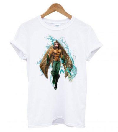 Aquaman – Prince Orin With Aquaman Logo LT T Shirt