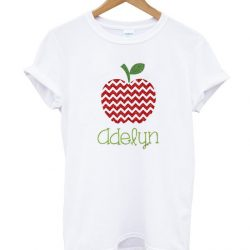 apple personalized fall kids back to school LT T Shirt