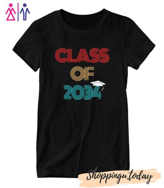 Class of 2034 Grow With Me Graduation T shirt