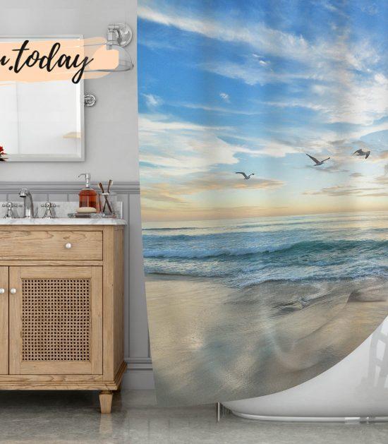 Everyday on Beach Shower Curtain