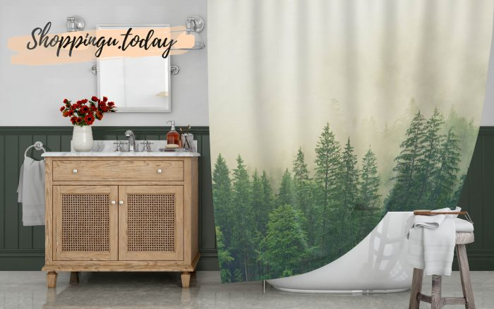 Fog on Forest Shower Curtain