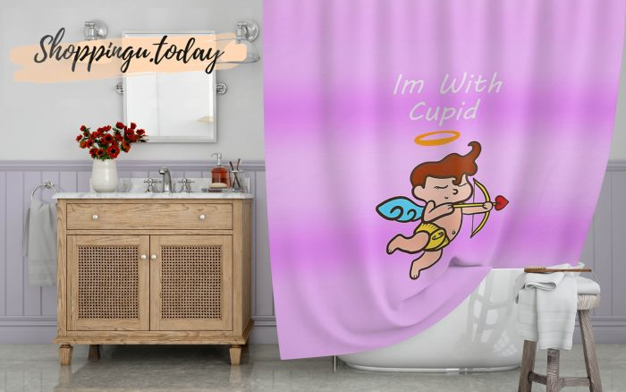 Im with Cupid Shower Curtain