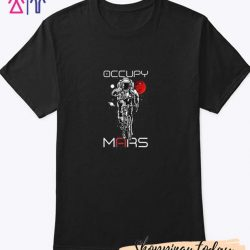 Occupy Mars Astronaut Riding T Shirt