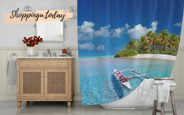 Polynesia Beautiful Island Shower Curtain