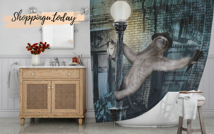 Sloth Movie Funny Shower Curtain