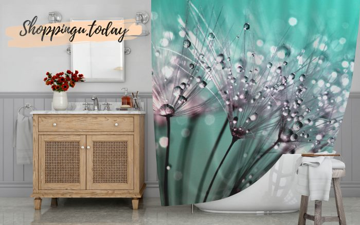 The Art Of Dandelion Shower Curtain