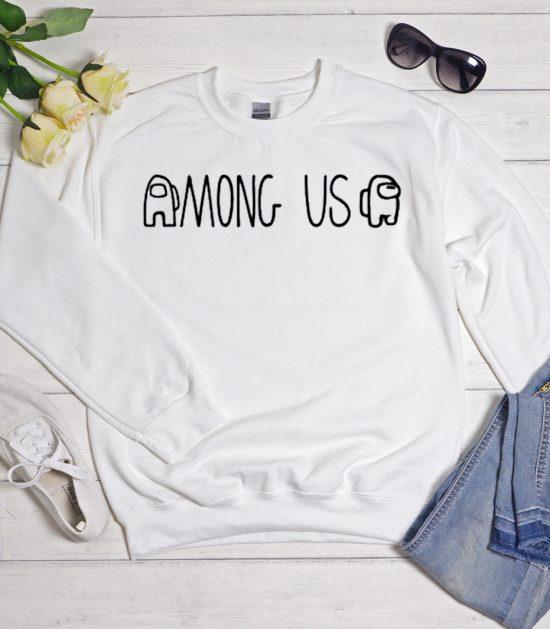 Among Us White Cool Trending Sweatshirt