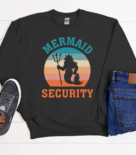 Mermaid Security Vintage Retro Cool Trending Sweatshirt