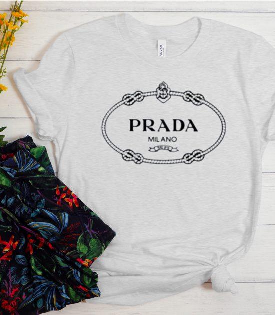 Prada Crew Logo Cool Trending T Shirt