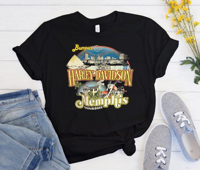 Vintage 90s Harley Davidson Memphis Cool Trending T Shirt