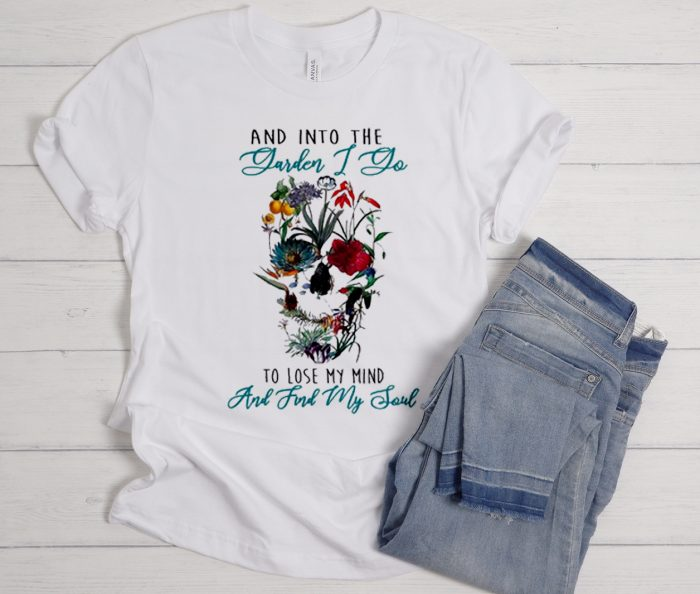 And Into The Garden Skull Cool Trending graphic T Shirt