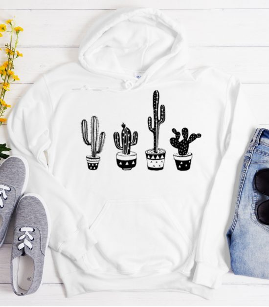 New Plant Lover Cactus and Succulent Cool Trending graphic Hoodie